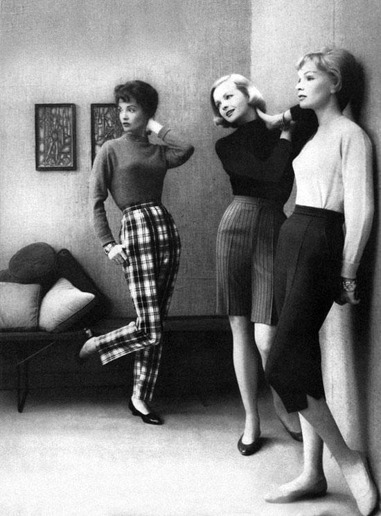 Какие брюки женщины носили в 50-е