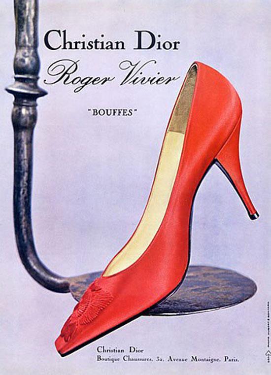 Модная женская обувь в 50-е годы
