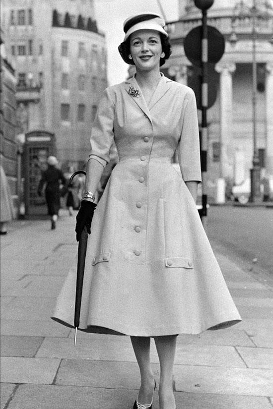 Женская мода 50-х годов