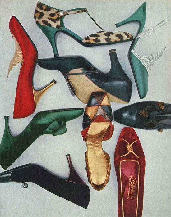 Какую обувь носили в 50-е годы женщины
