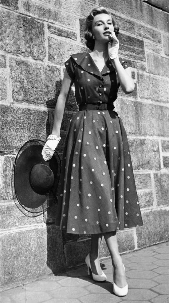 Женский стиль в 50-е годы
