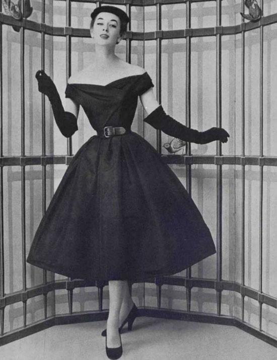 Модные образы 50-х годов