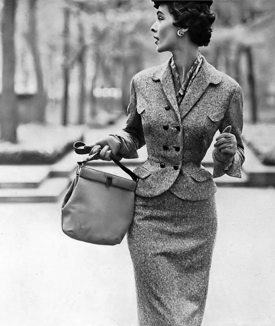 Модные женские костюмы 50-х годов