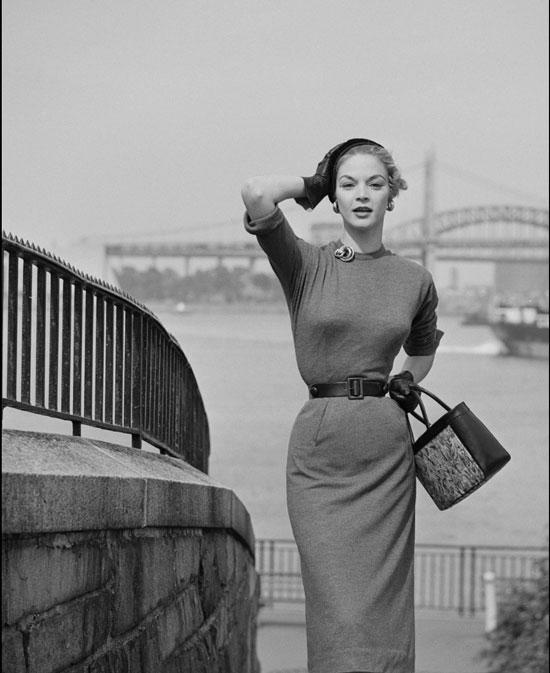Модные платья 50-х годов