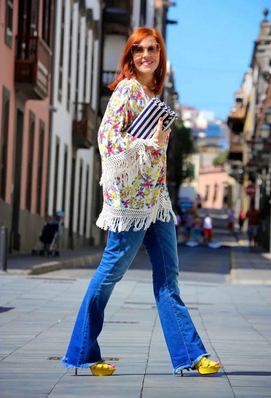 Модные туники для женщин 50 лет