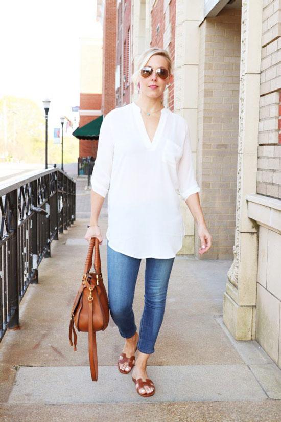 Модные туники для 50-летних женщин