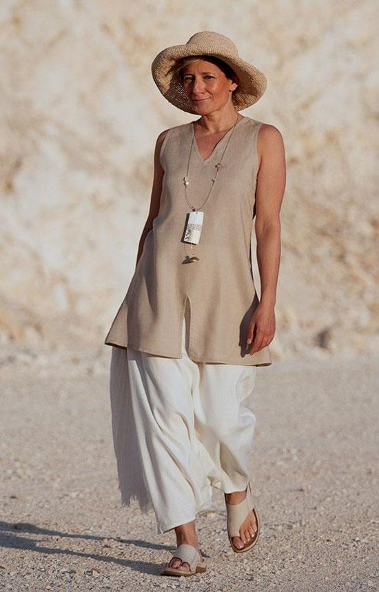 Образы с туникой на лето для женщин 50 лет