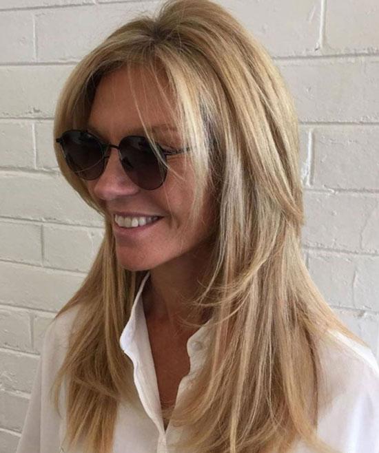 Стильные укладки на длинные волосы для женщин 50 лет
