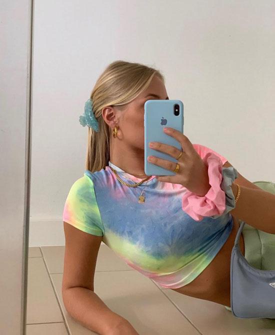 Модная в инстаграме футболка tie-dye