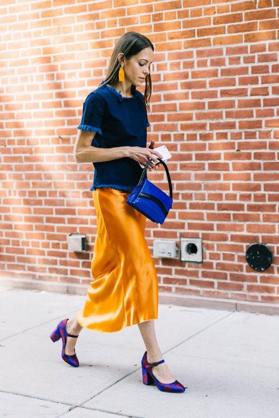 Модные атласные юбки на лето 2020