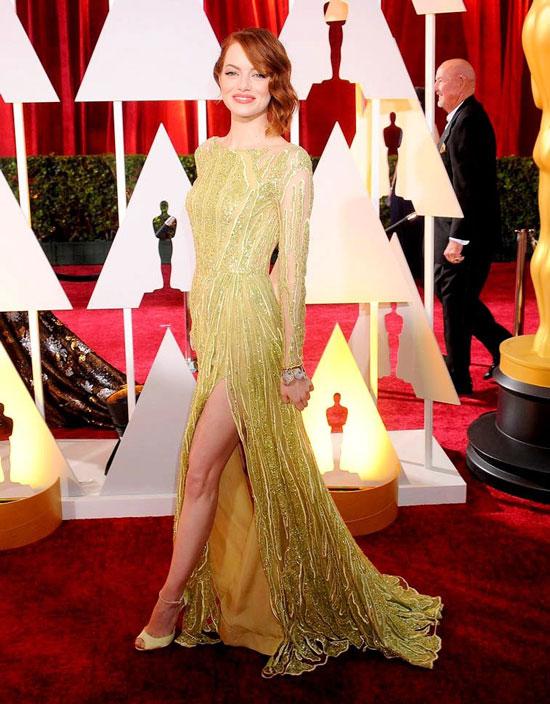 Эмма Стоун в платье Elie Saab на церемонии Оскар