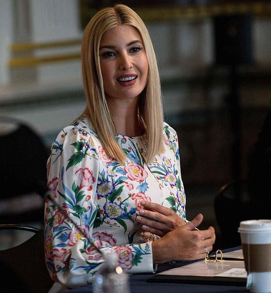 Иванка Трамп в цветочном платье