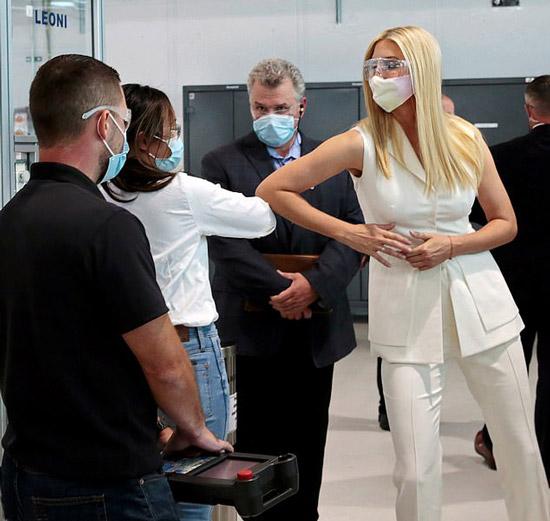 Иванка Трамп в жилете с баской