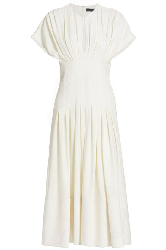 Королева Иордании в белом платье от Proenza Schouler