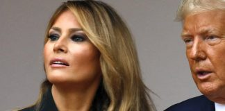 Мелания Трамп в простой юбке-карандаш и жакете с запахом выглядит строго и современно