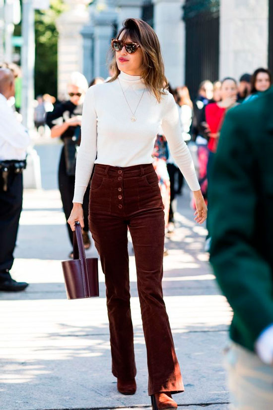 Женские вельветовые брюки на осень 2020