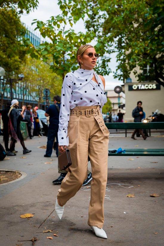 С чем женщинам носить брюки осенью 2020