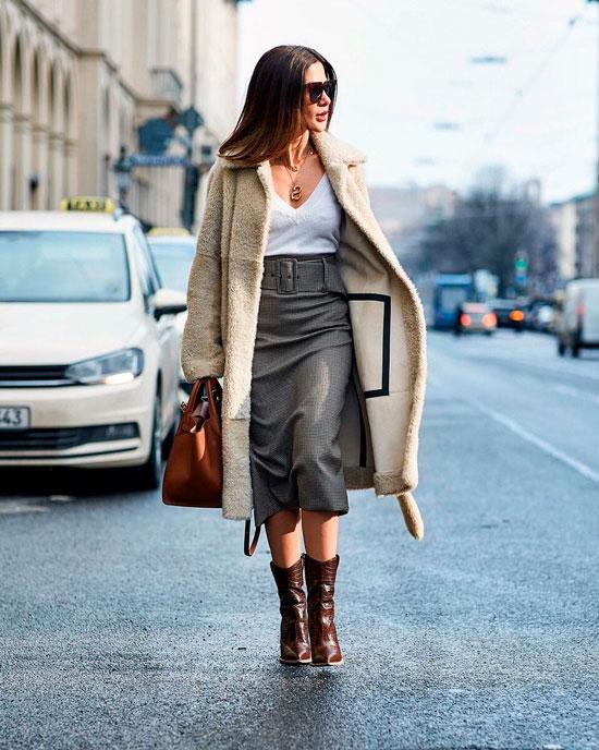 Модная юбка-карандаш на осень 2020
