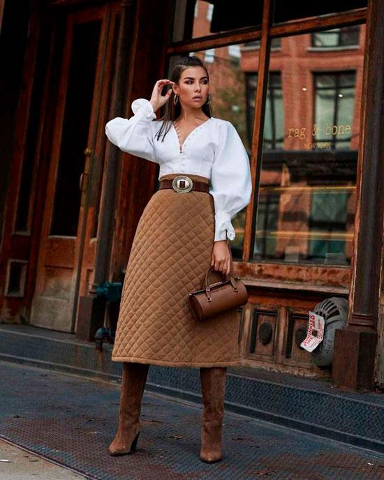 Какие миди-юбки в моде осенью 2020