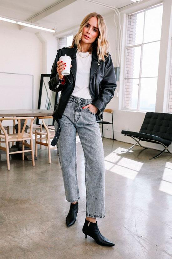 Модные образы с джинсами на осень 2020