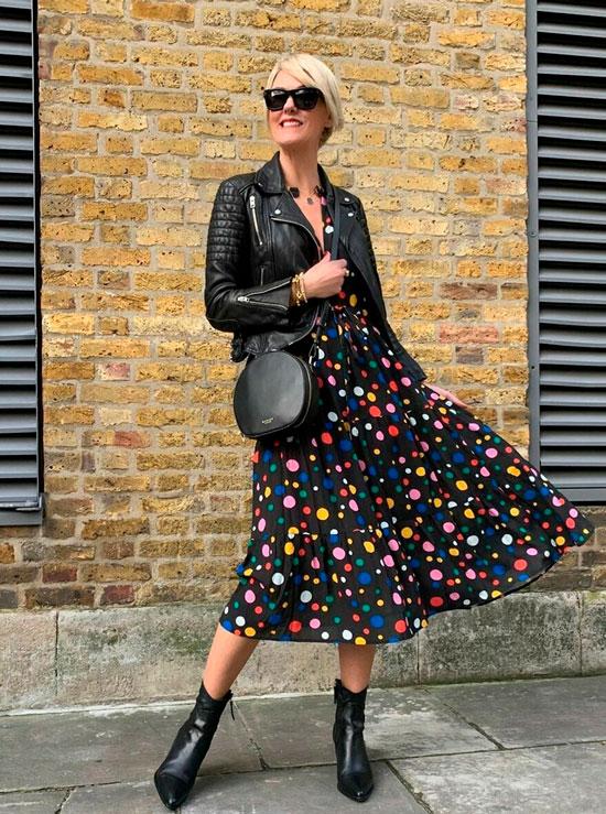 Осеннее платье для женщины 50 лет