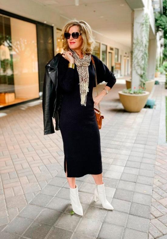 Трикотажное платье для женщины 50 лет