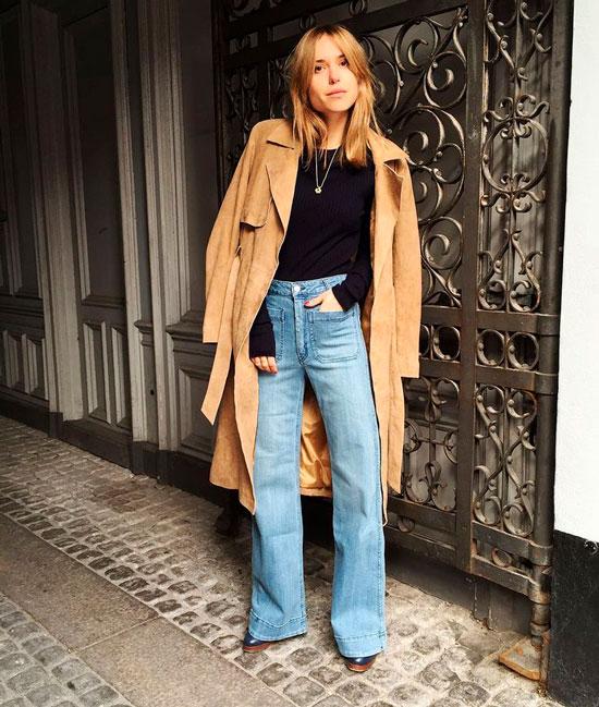 Модные широкие джинсы на осень 2020