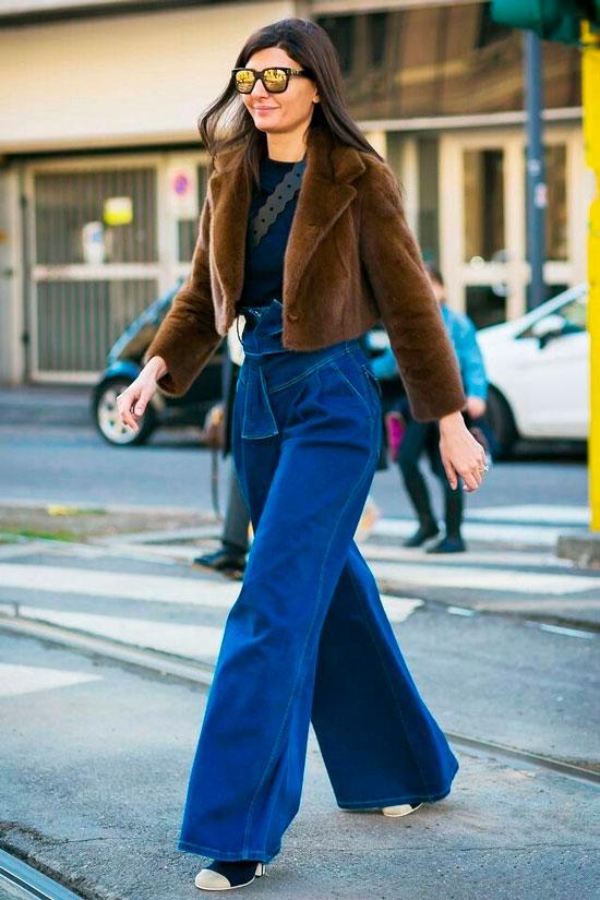 Широкие джинсы для женщин на осень 2020