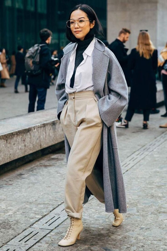 Как носить серый цвет осенью 2020