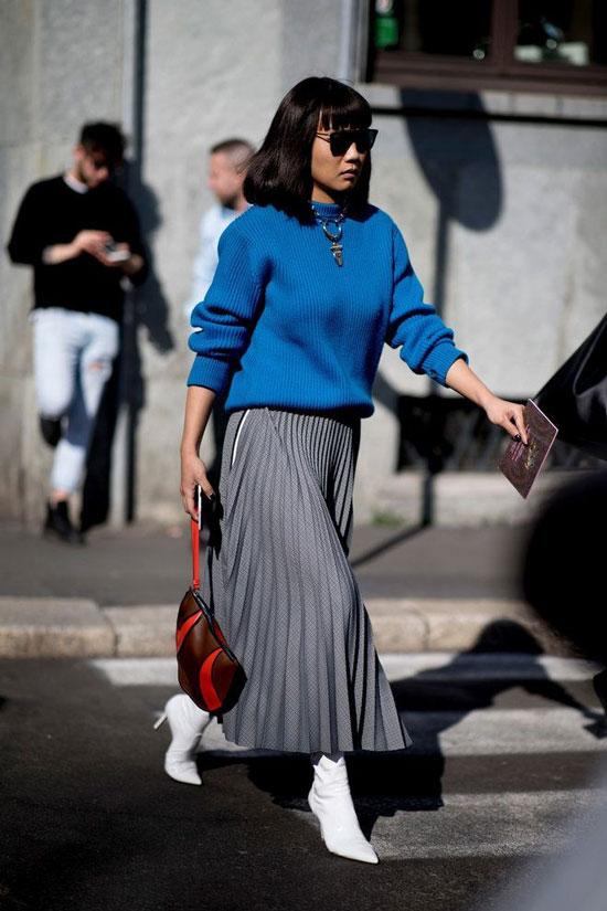 С чем сочетать серые цвет в одежде осенью 2020