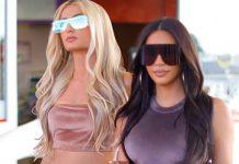 Ким Кардашьян и Пэрис Хилтон демонстрируют атмосферу начала 2000-х в велюровых костюмах и кроссовках