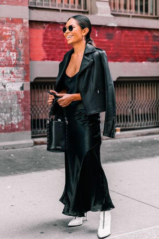 Модные кожаные куртки-косухи 2020