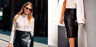 Как носить кожаную юбку-карандаш прямо сейчас, чтобы вдохновлять окружающих