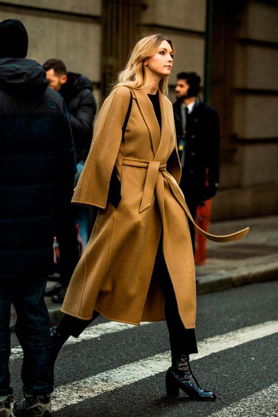 Пальто на запах на осень 2020