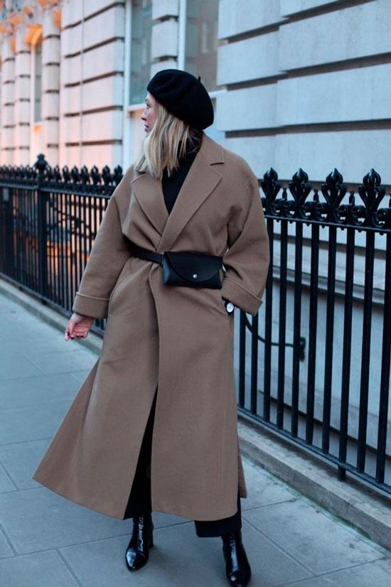 С чем носить пальто на запах на осень 2020