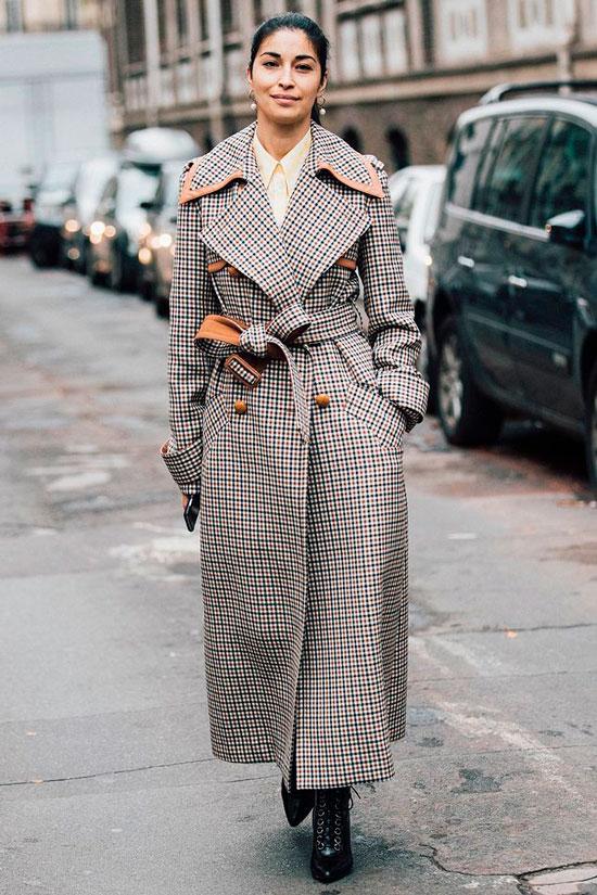 Приталенное пальто на осень 2020