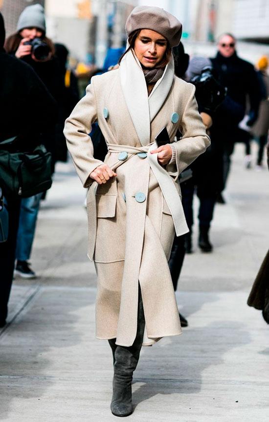 Женское приталенное пальто на запах 2020