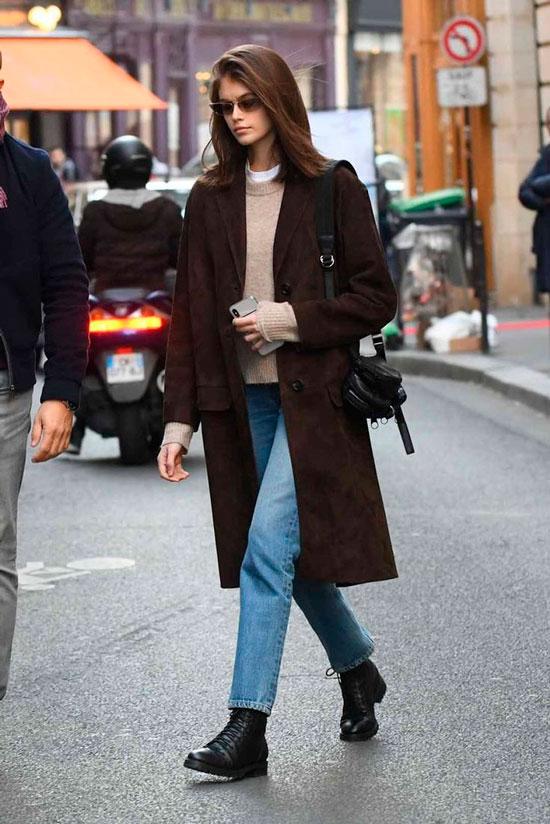 Женское прямое пальто на осень 2020