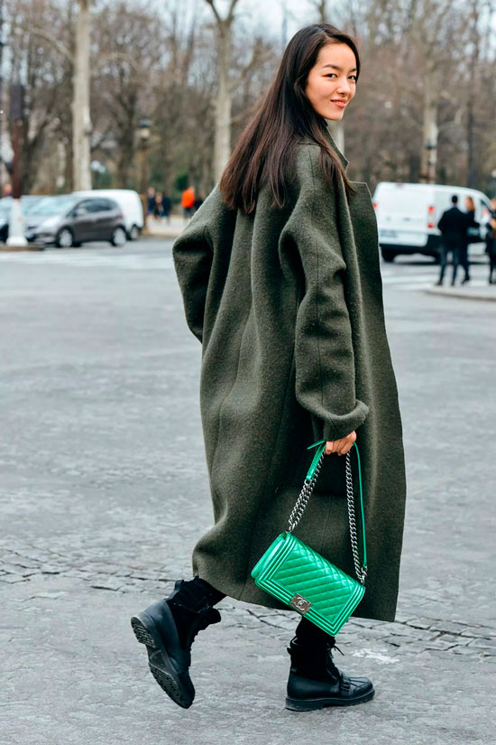 Образы с пальто на осень 2020