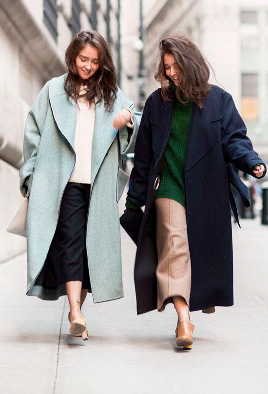 Пальто с юбкой-миди для женщин на осень 2020