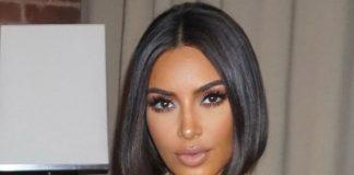 Ким Кардашьян в шелковом комбинезоне и аккуратной прической восхищает подписчиков