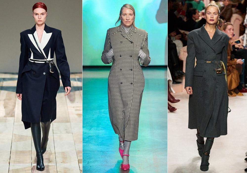 Двубортное средней длины - модные пальто зимы 2021