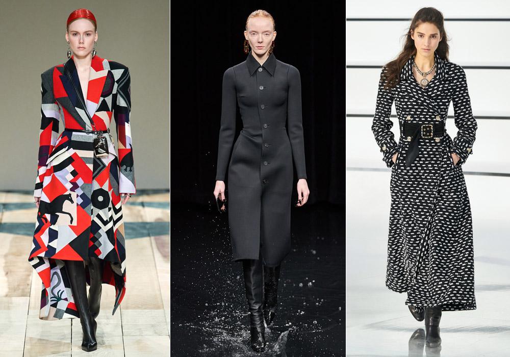 Приталенный силуэт - модные пальто зимы 2021