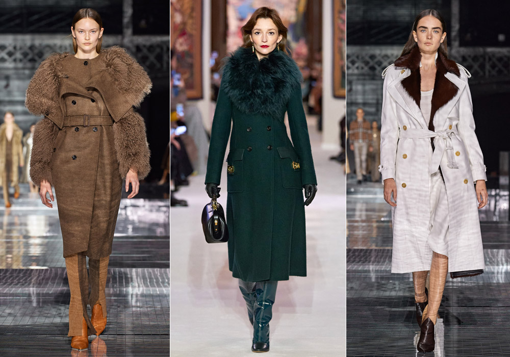 Украшенное мехом - модные пальто зимы 2021