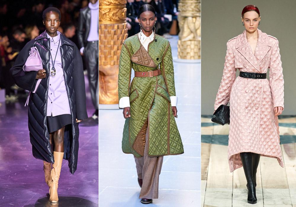 Стеганое - модные пальто зимы 2021