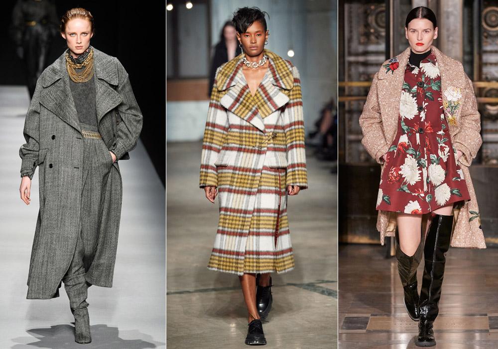 Большие лацканы - модные пальто зимы 2021