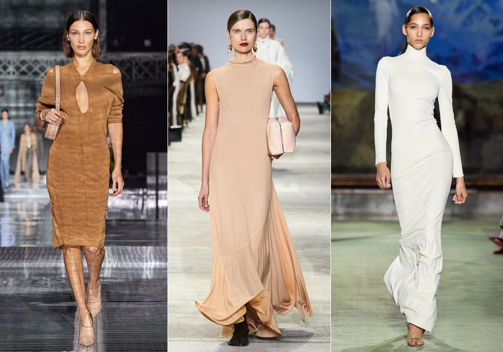 Облегающие платья - основные тенденции зимы 2021