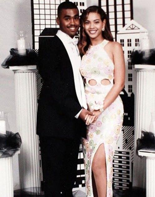 Бейонсе в красивом платье на выпускном вечере