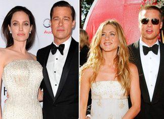 От Дженнифер Энистон до Анджелины Джоли - все свидания Брэда Питта на красной дорожке