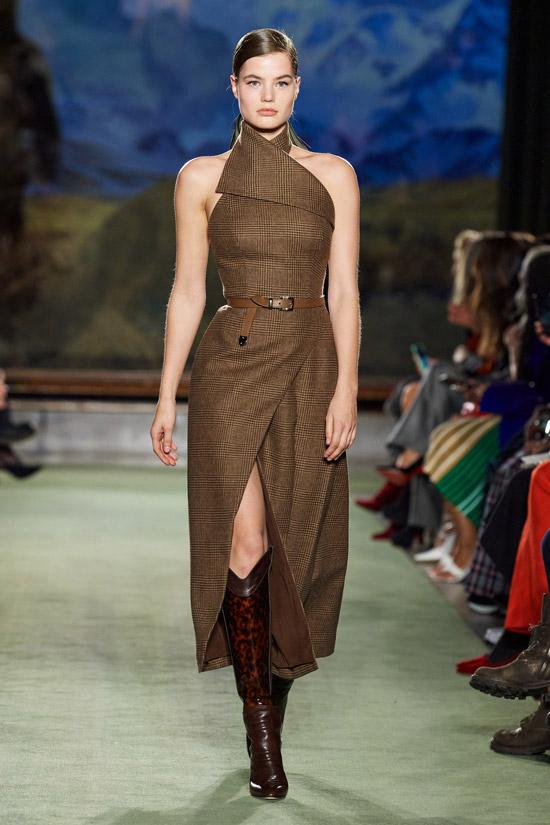 Платье с разрезом Brandon Maxwell